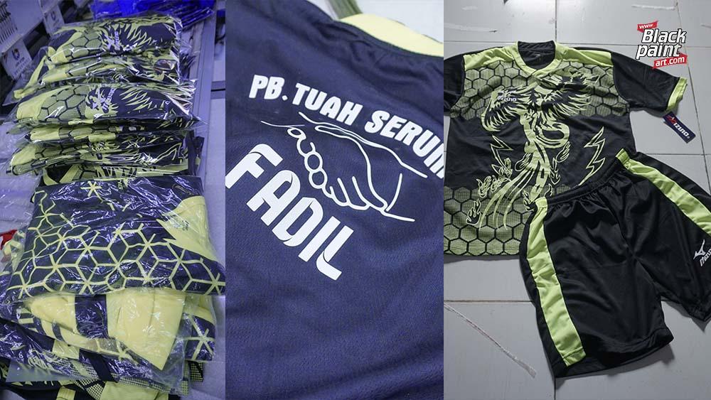 Blackpaint Print Shop merupakan salah satu tempat sablon baju bola di Pekanbaru